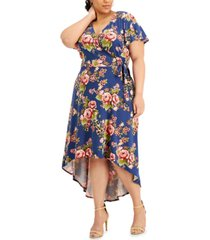 bcx trendy plus size high-low dress