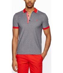 boss men's slim-fit oxford polo shirt
