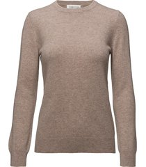 basic sweater gebreide trui beige davida cashmere