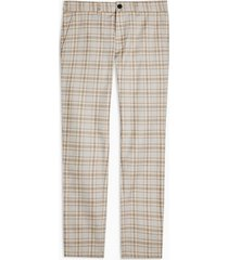 mens yellow mustard check super skinny pants