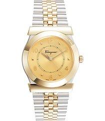 bi-tone stainless steel bracelet watch