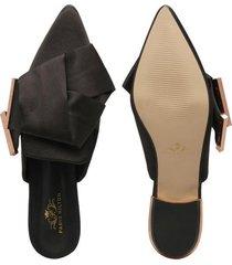 zuecos para mujer marca paris hilton color negro paris hilton - negro