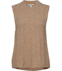 camilla vests knitted vests beige dagmar