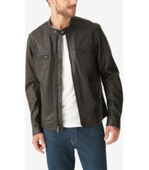 lucky brand men's waxed leather bonneville jacket