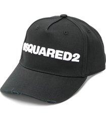man black and white dsquared2 baseball cap
