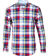 camisa m ross plaid stretch multicolor tommy hilfiger