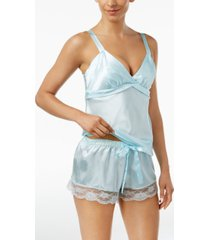 flora by flora nikrooz satin diva cami and shorts pajama set