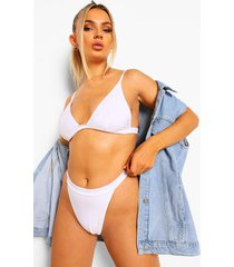essentials driehoek bikini top, wit