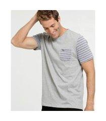 camiseta cia gota listrada manga curta masculina