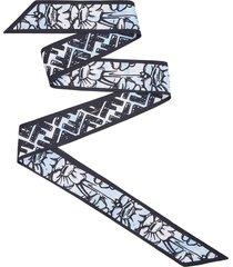 fendi x joshua vides ff-motif bandeau scarf - blue
