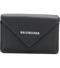 balenciaga papier mini wallet - black