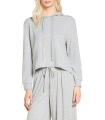 women's eberjey blair high/low hoodie