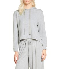 women's eberjey blair high/low hoodie