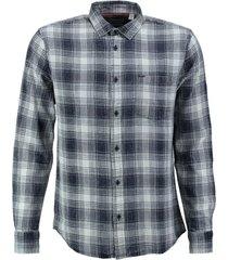 only & sons stevig zacht soepel blauw katoenen overhemd