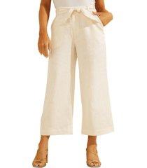 guess tessa linen culotte pants