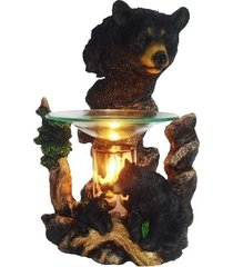 bear head oil/tart warmer - compatible with scentsy and yankee candle wax