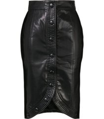 we11done stitched h-line skirt - black
