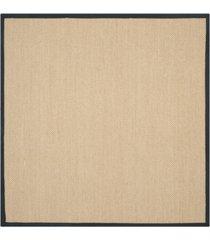 safavieh natural fiber maize and black 6' x 6' sisal weave square area rug