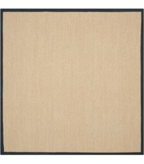safavieh natural fiber maize and black 6' x 6' sisal weave square rug