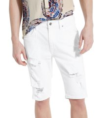 """guess men's classic-fit destroyed 11"""" shorts"""