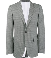 calvin klein 205w39nyc fancy wool check blazer - grey