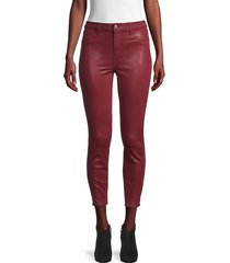 margot high-rise coated skinny ankle jeans