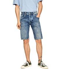 bermuda azul denim pepe jeans