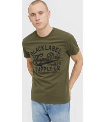 superdry desert classic tee t-shirts & linnen green