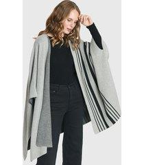 ruana privilege gris - calce oversize