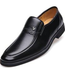 hombres zapatos de negocios formales cuero zapatos oxford planos masculinos