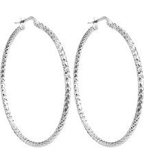 orecchini cerchio 60 mm in argento 925 rodiato per donna