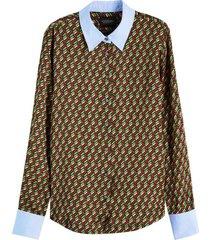 blouse printed bruin
