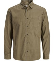 jack & jones men's corduroy long sleeve essential shirt