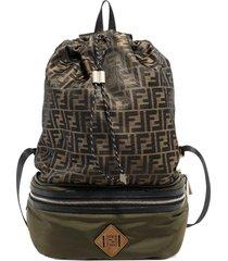 fendi wandelbarer rucksack mit logo-print