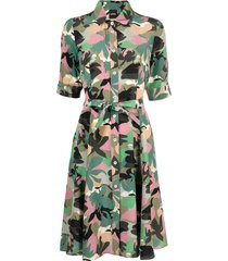 aspesi camouflage print dress - green