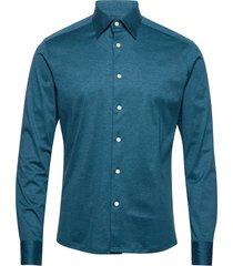 jersey overhemd business blauw eton
