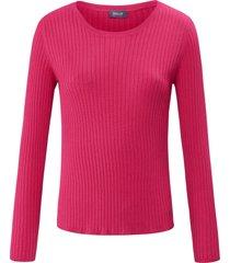 trui met ronde hals enlange mouwen van basler roze