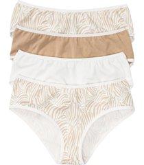 culotte (pacco da 4) con cotone biologico (bianco) - bpc bonprix collection