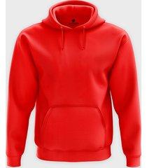 męska bluza z kapturem (bez nadruku, gładka) - czerwona