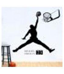 adesivo de parede esportes basquete modelo 7 - g 70x75cm