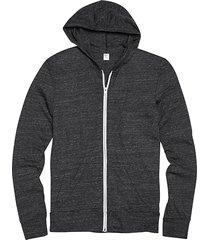 alternative apparel men's charcoal modern fit full zip eco jersey hoodie - size: 3x