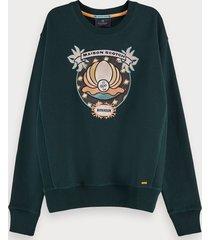 scotch & soda long sleeve sustainable cotton artwork sweatshirt