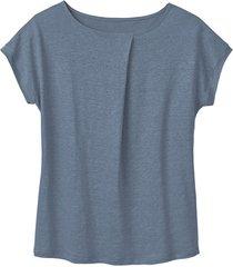 linnen-jersey shirt, rookblauw 44/46