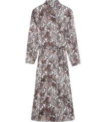 vestido cashmere snake print intimissimi cashmere marrom - marrom - feminino - dafiti