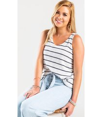 amorra striped tank top - white