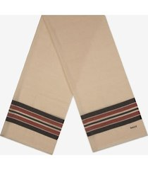 bally stripe scarf beige 1
