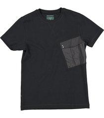 butcher of blue t-shirt met borstzak