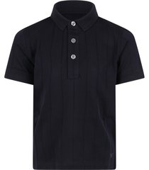 armani collezioni blue polo shirt for boy with eagle