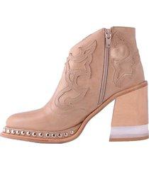 sandalia de cuero suela becca shoes tanus