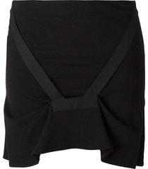 helmut lang pre-owned bondage strap skirt - black